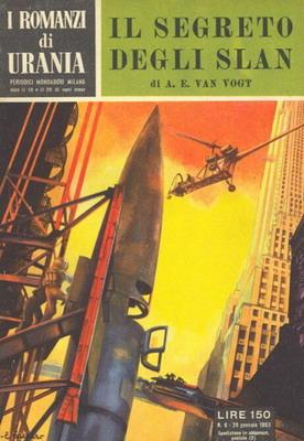 Il segreto degli Slan   Italy, Mondadori 1953   Cover: Caesar, Curt