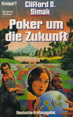 Poker um die Zukunft | Germany, Knaur 1983 | Cover: Fowke, Bob
