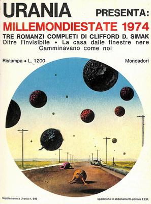 Millemondiestate 1974: Tre romanzi completi di Clifford D. Simak | Italy, Mondadori 1974 | Cover: Thole, Karel