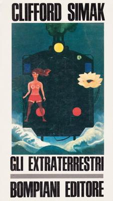Gli extraterrestri | Italy, Bompiani 1969 | Cover: Yokô, Tadamori