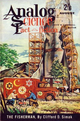 Analog Science Fact - Fiction [UK], Aug. 1961 | UK, Atlas Publishing 1961 | Cover: Van Dongen, H. R.