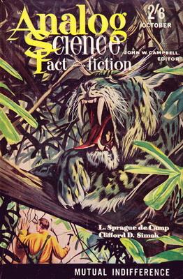 Analog Science Fact - Fiction [UK], Okt. 1961   UK, Atlas Publishing 1961   Cover: Schoenherr, John