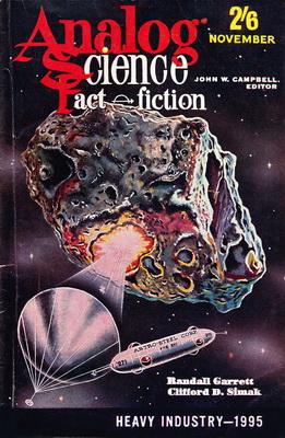 Analog Science Fact - Fiction [UK], Nov. 1961 | UK, Atlas Publishing 1961 | Cover: Thomas, Gene