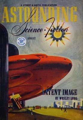 Astounding Science Fiction [UK], Aug. 1944 | UK, Atlas Publishing 1944 | Cover: Timmins, William