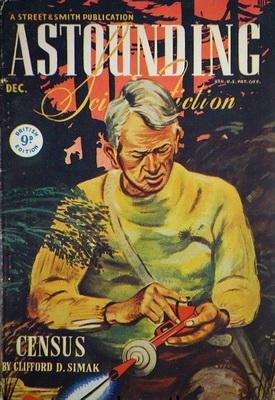 Astounding Science Fiction [UK], Dec. 1944 | UK, Atlas Publishing 1944 | Cover: Timmins, William