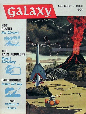 Galaxy Magazine, Aug. 1963 | USA, Galaxy Publishing Corporation 1963 | Cover: Pederson