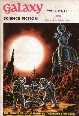 Galaxy Science Fiction [UK], Feb. 1954   UK, Strato Publications 1954   Cover: Emsh