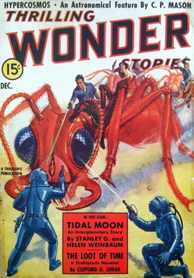 Thrilling Wonder Stories, Dec. 1938 | USA, Better Publications 1938 | Cover: Brown, H.V.